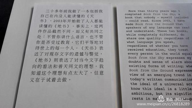 徐冰的天书和地书 【图文:墨君 新绿】