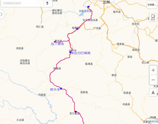 甘南旅游路线图