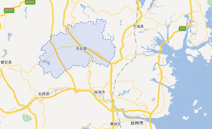 天台县城街道地图
