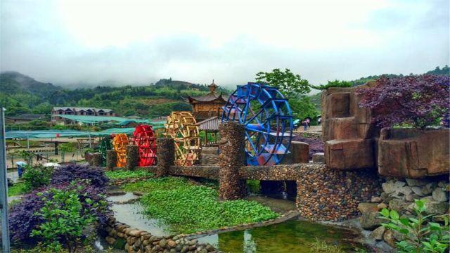 整个村庄以竹子为特色,配合上现代性的农业基地,开发有农家乐,开心