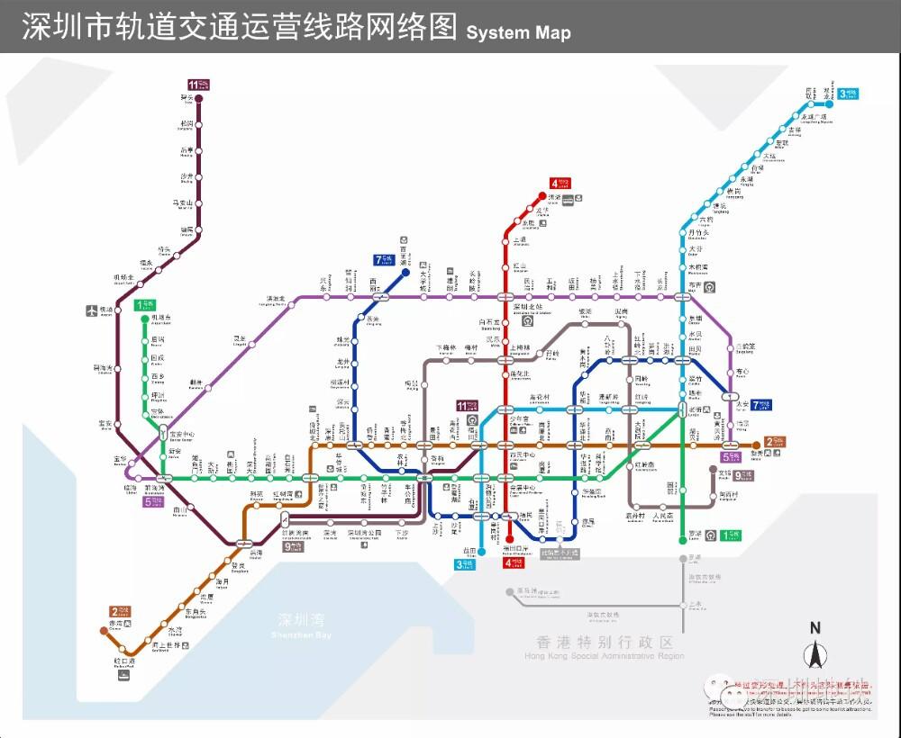 017深圳地铁线路图图片