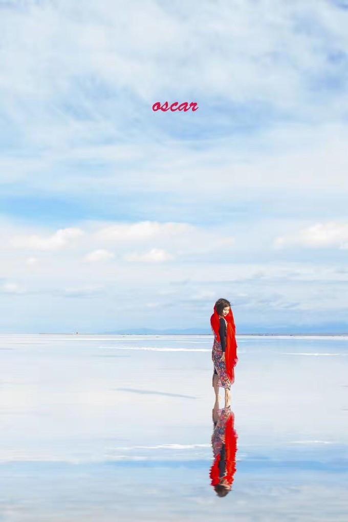 青海湖拍照姿势图片