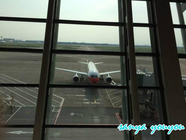 下午四点多的飞机从上海浦东飞往海南三亚