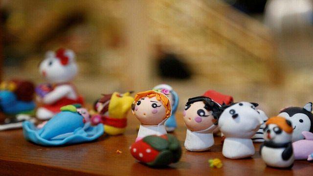 儿童陶艺作品图片动物头像
