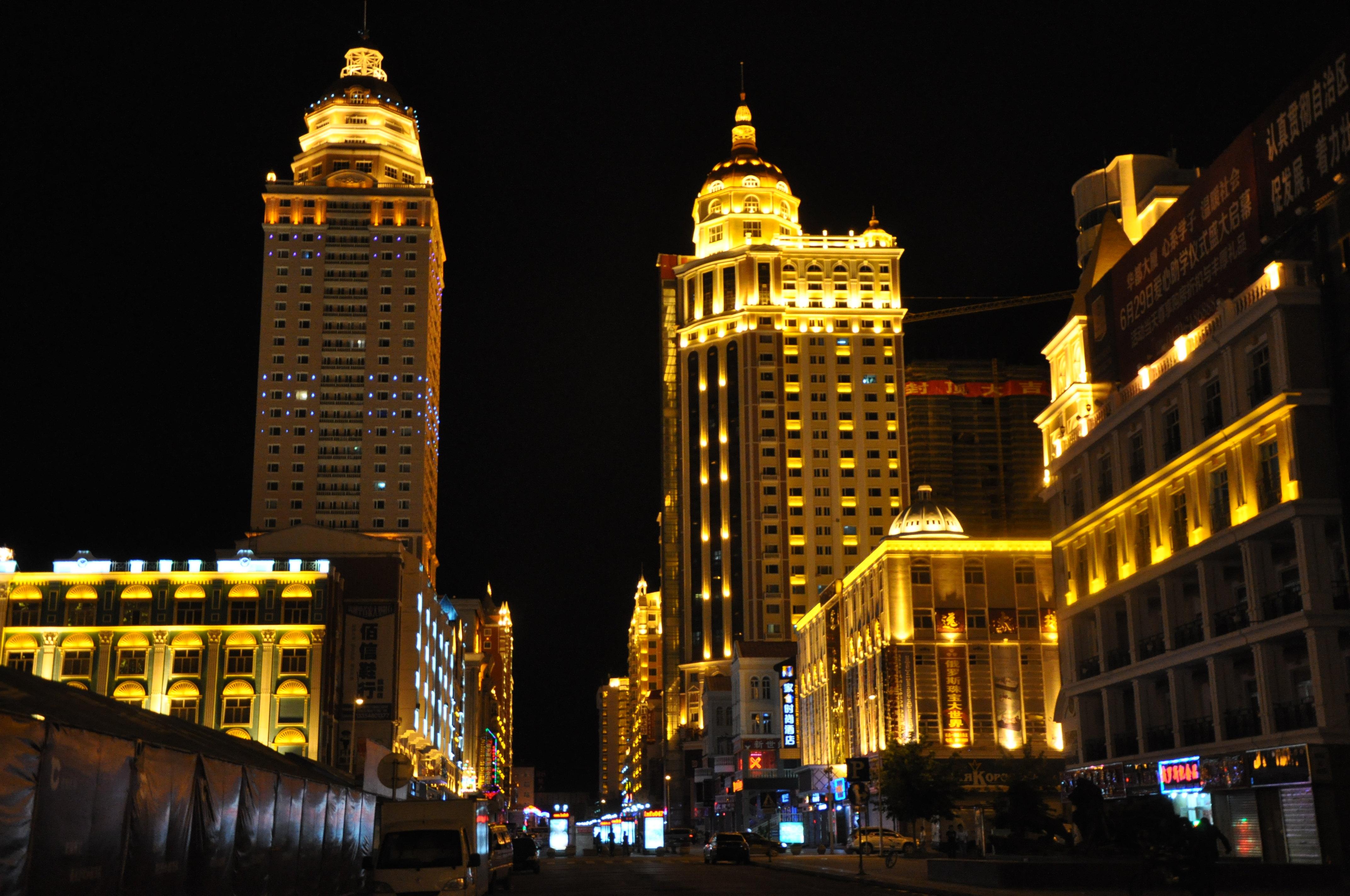 城市建筑以俄罗斯及欧式建筑为主