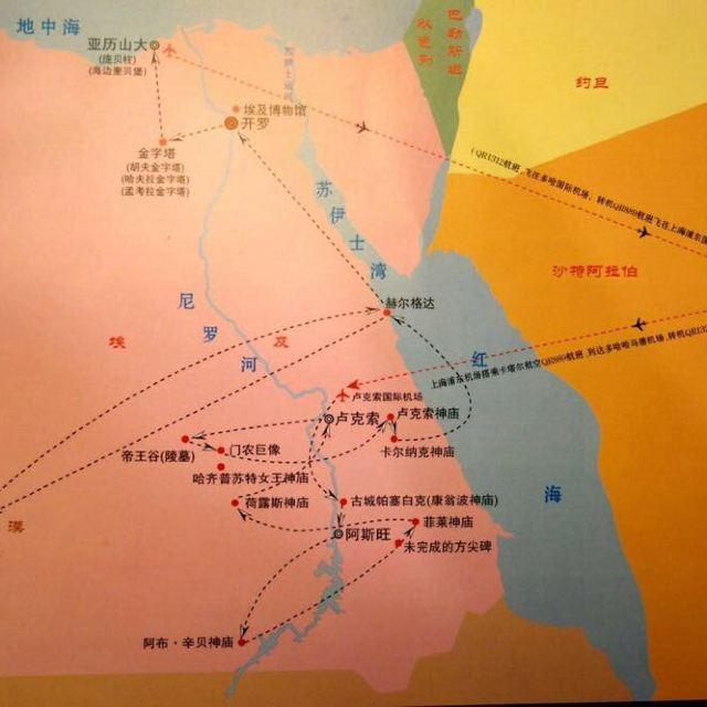 埃及12日旅游路线图