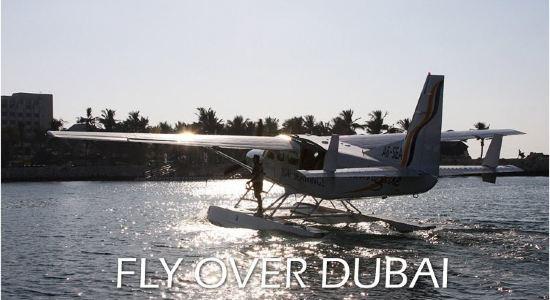 迪拜水上飞机 全城鸟瞰 空中自由行