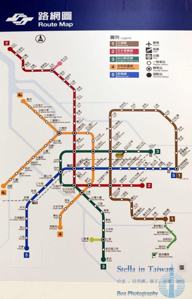 台北捷运最新路线图