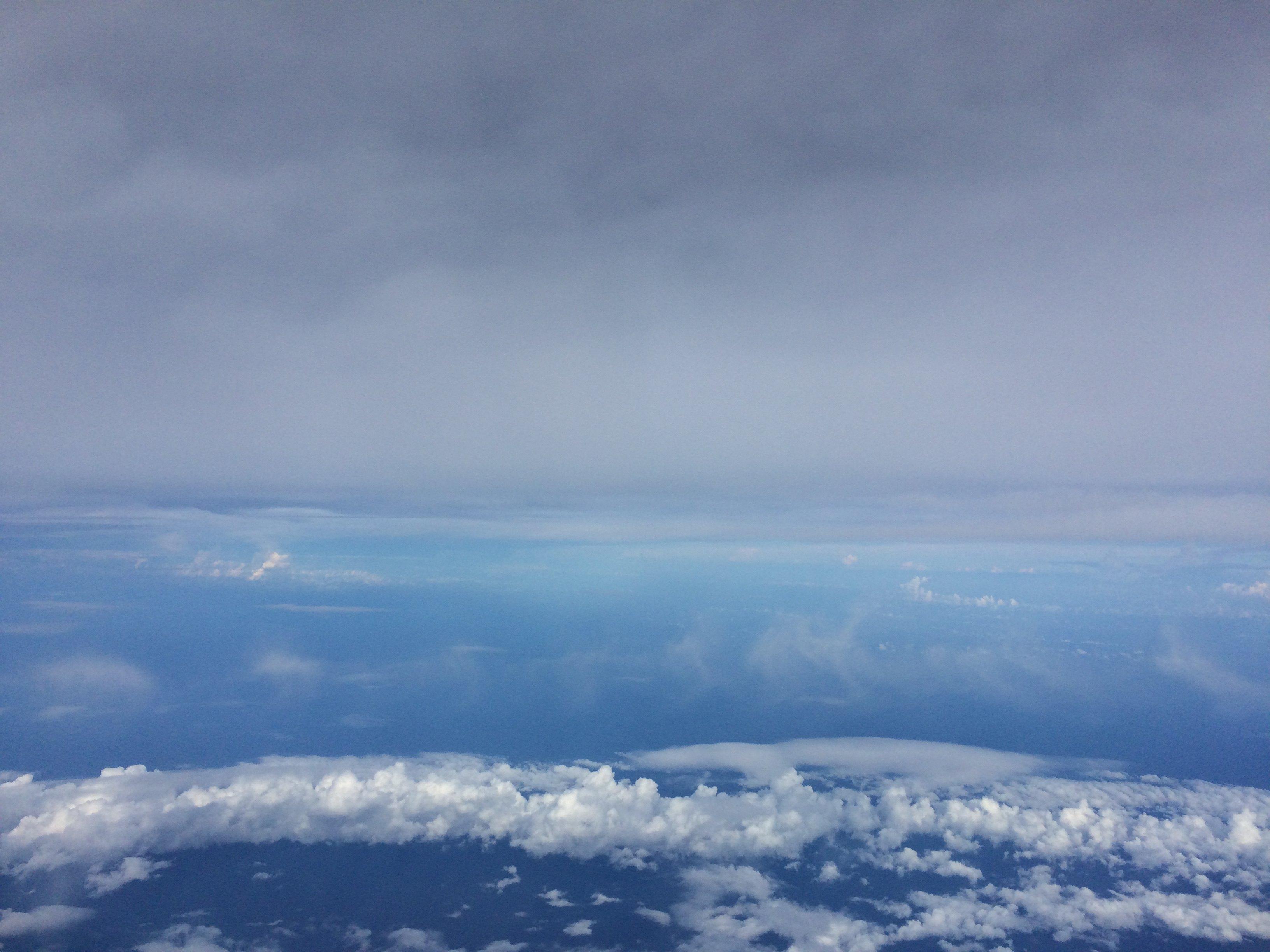 飞机上的美景