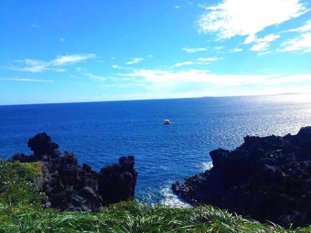 济州岛的蓝天白云