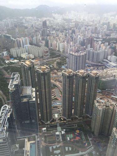高层建筑的俯视手绘图