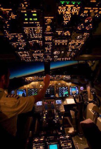 最美的飞机驾驶舱