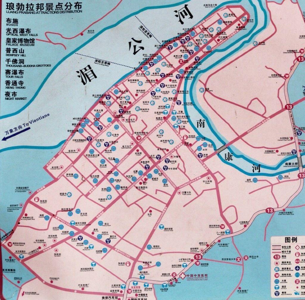 老挝13号公路 地图