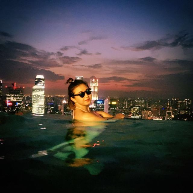 金沙酒店57层无边框泳池