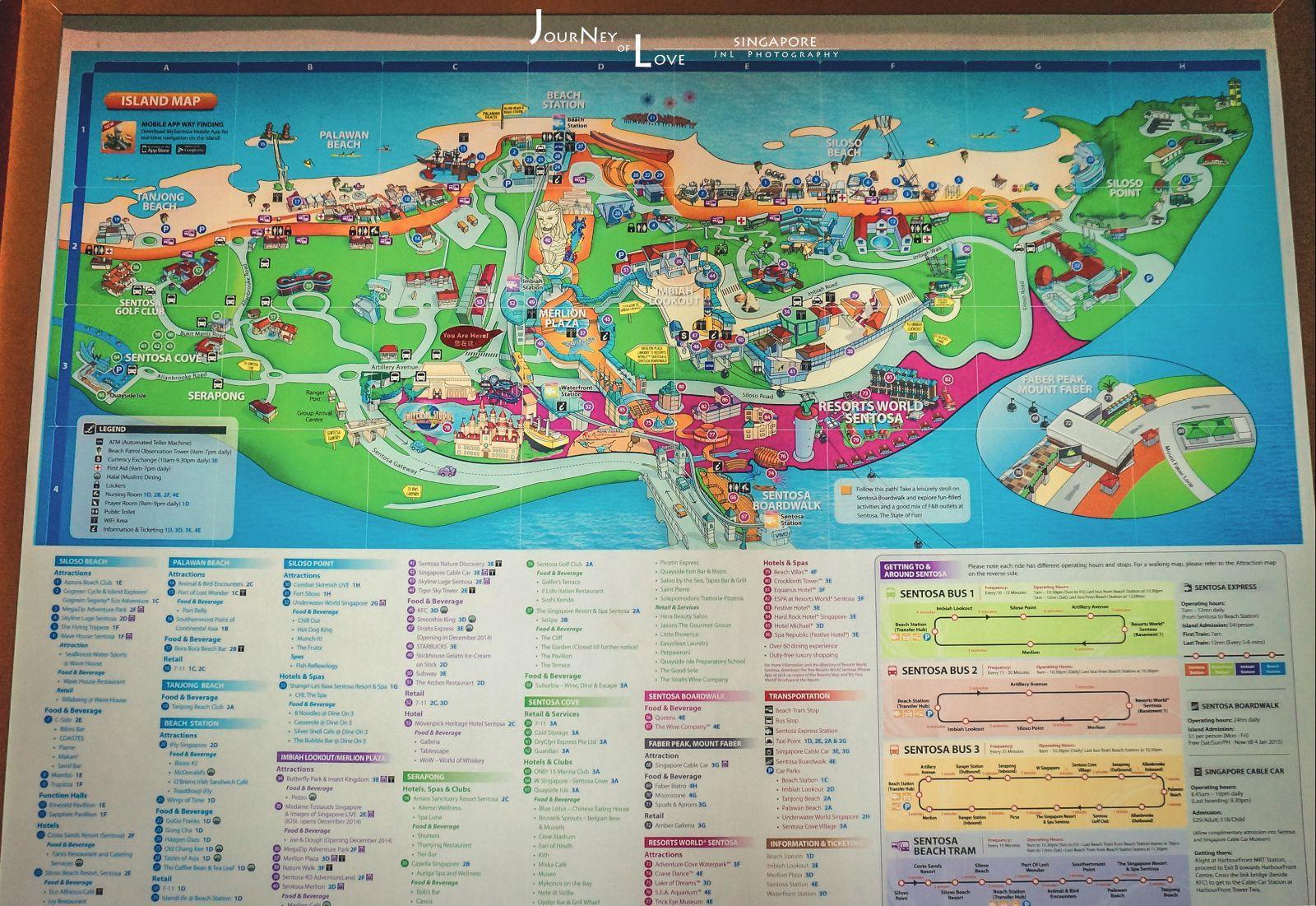 圣淘沙岛地图,还来不及探索天就黑了.
