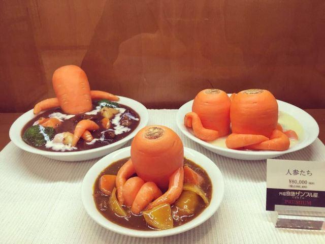 胡萝卜和100牙签做塔照片