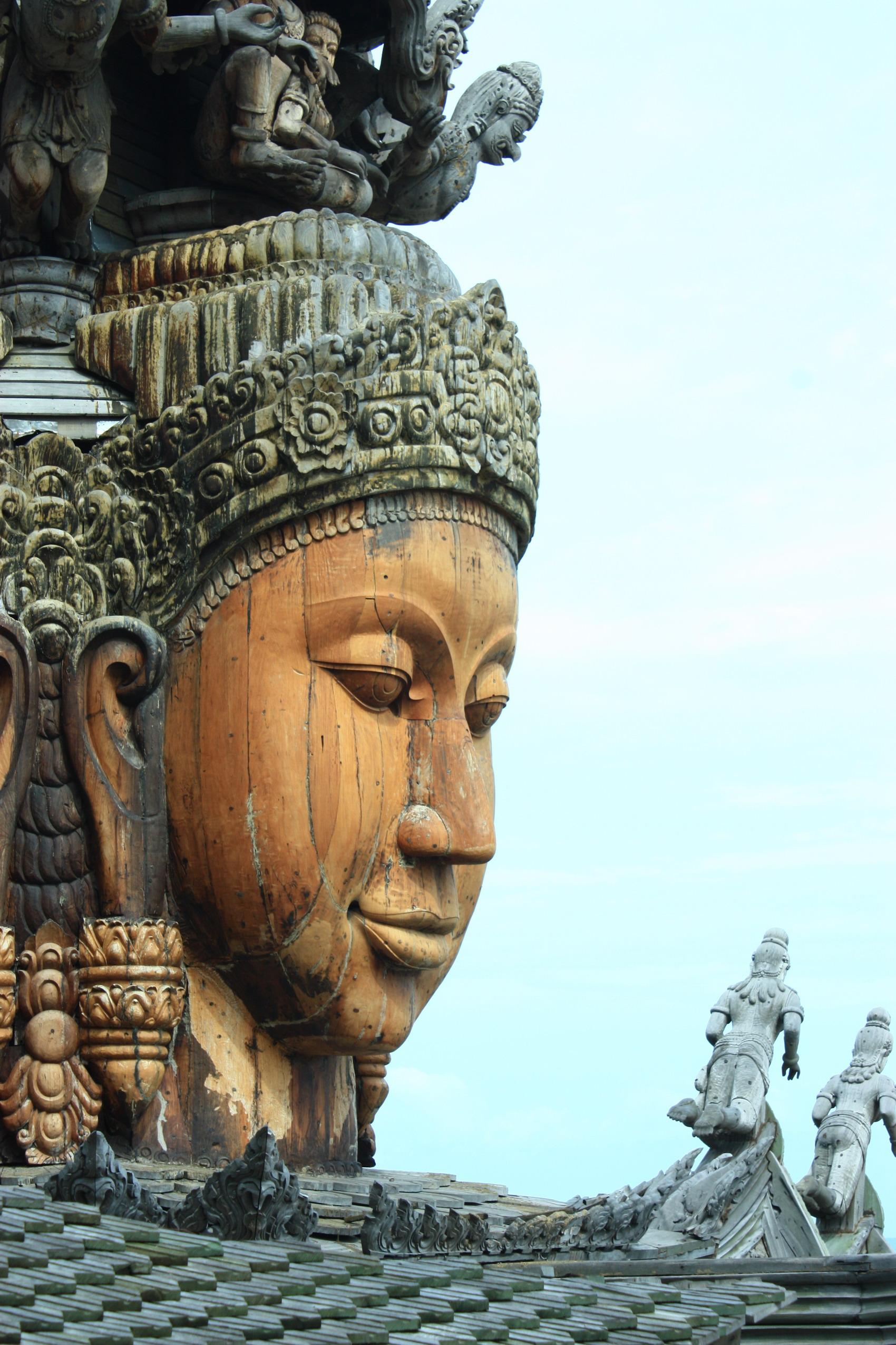 泰国木雕佛像图片大全