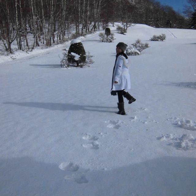 看到干净的雪就想践踏算什么心态