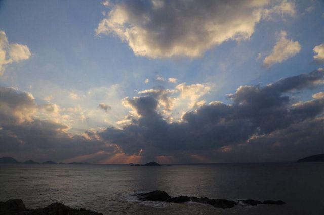 石塘海边风景画