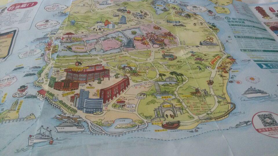 机场免费的厦门手绘地图