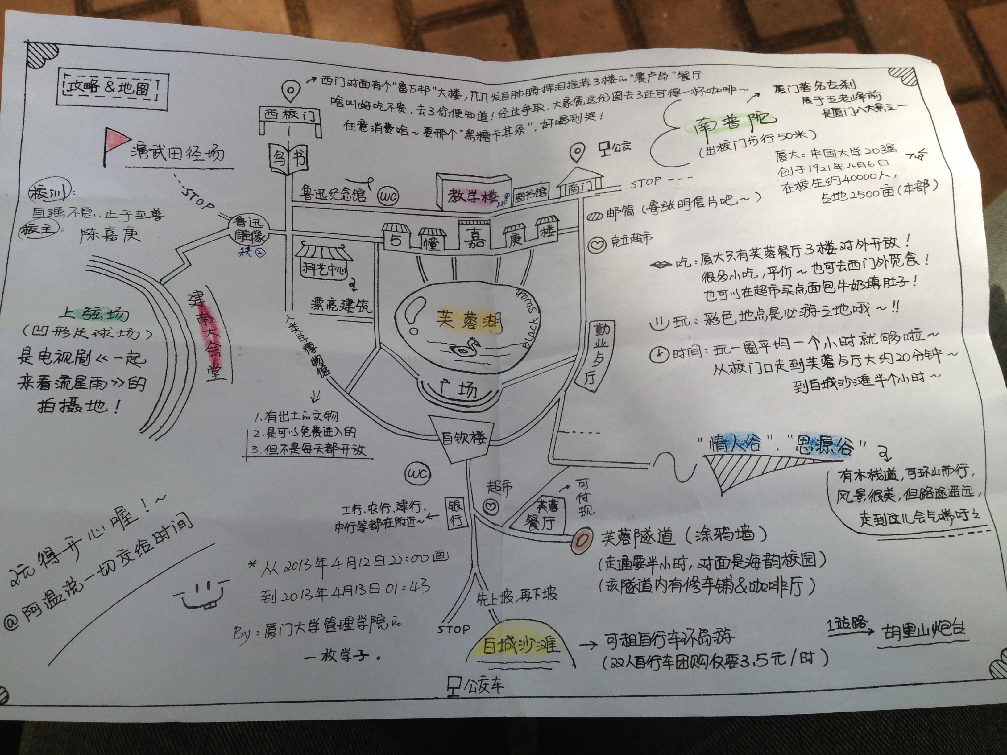 厦大学生手绘地图(复印版)