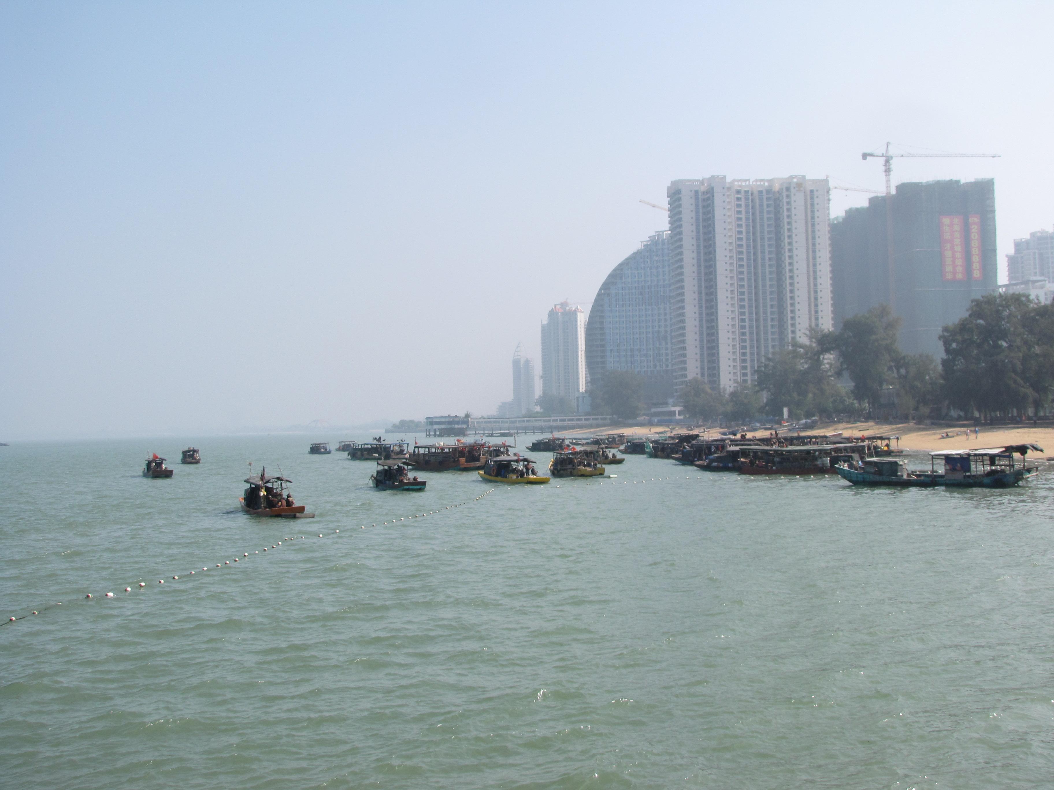 广西北海市的海滨公园