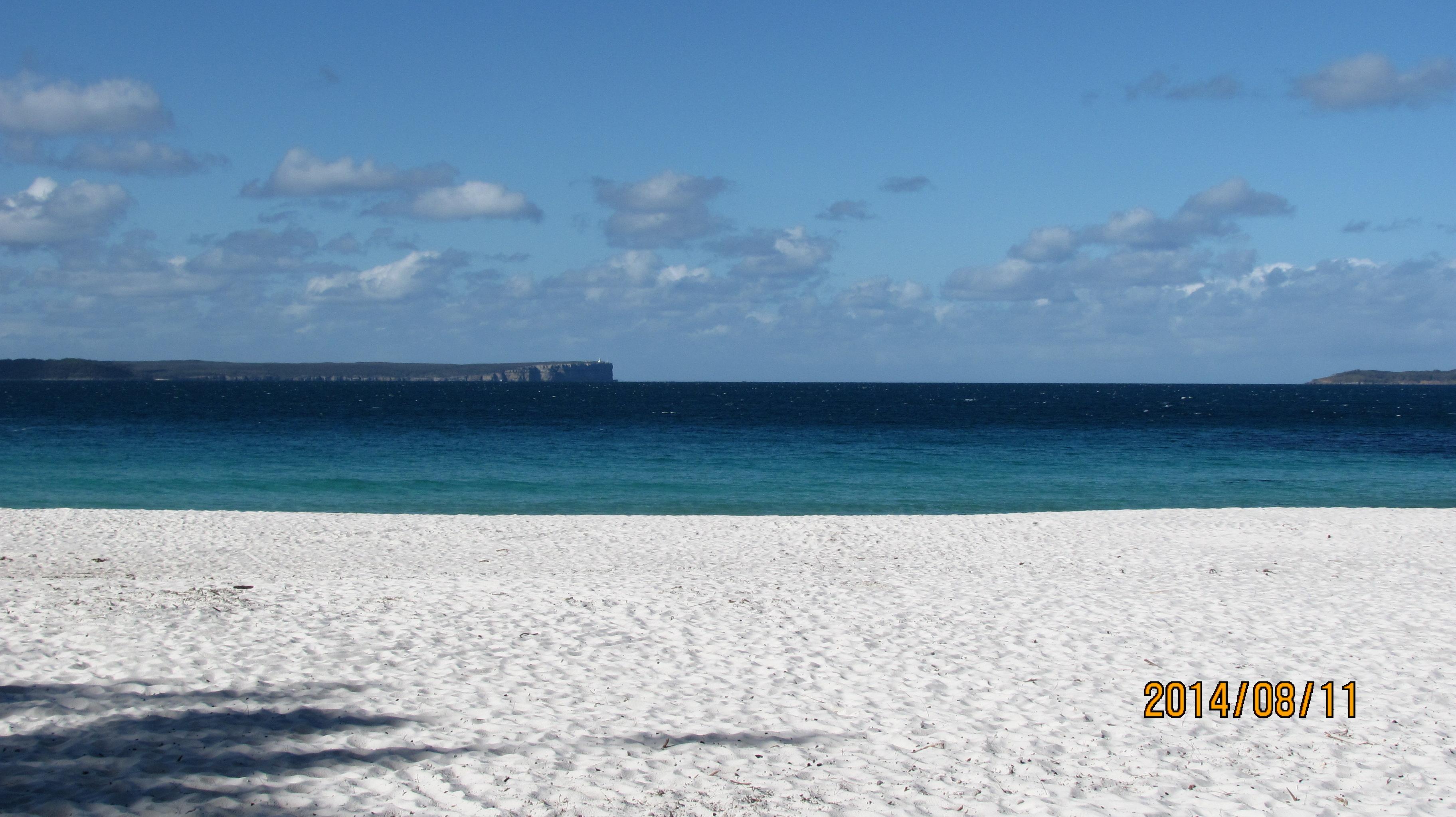 海边蓝色房子图片
