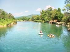 Tubing down the Namsong River-万荣
