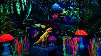 魔法夜光城-恐龙世界主题区